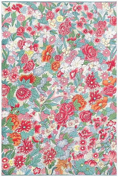 China Pattern Floral Bottle Patterns Chinese Flowers