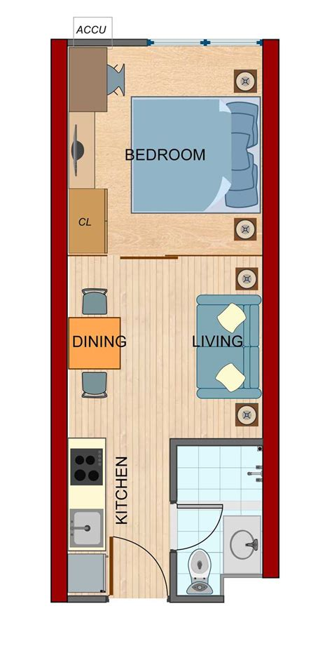 1 Bedroom Unit Layout by Nobleland Ventures Inc 187 One Bedroom Unit