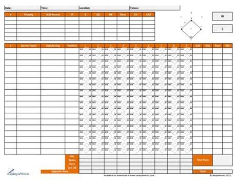 softball score sheet   excel spreadsheet