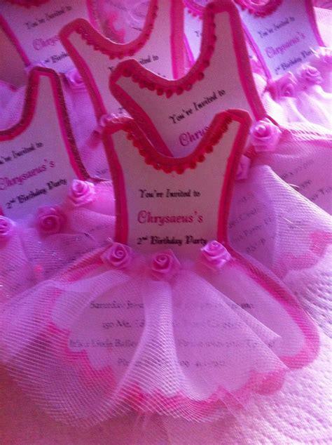 ballerina invitations tutu birthday pinterest