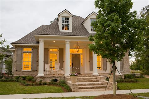 beautiful acadian house style traditional front porch traditional exterior new