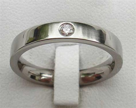 narrow titanium diamond engagement ring love2have in the uk