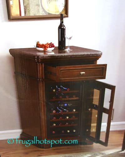 tresanti wine cabinet with 24 bottle cooler costco tresanti 24 bottle wine cooler with granite top