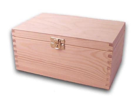 Holz-schatulle, Holzkiste, Schatzkiste, Kiefer Unbehandelt