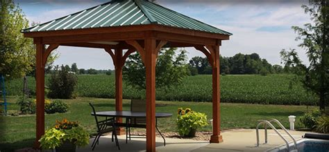 Walmart Patio Gazebo Canopy by Yardistry Wood Gazebo With Aluminum Roof Dro Press Gazebos