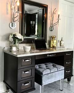 25 best ideas about modern makeup vanity on pinterest With tips to make beautiful small bathroom vanity
