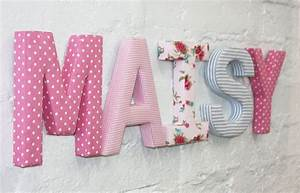 Fabric letters by babyface notonthehighstreetcom for Decorative fabric letters for walls