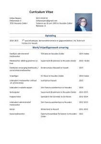 curriculum vitae voorbeeld word document cv gillian roijens