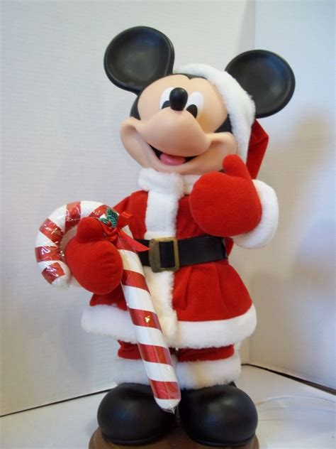 christmas motionette disney mickey mouse 1996 santas best animated motion rare ebay
