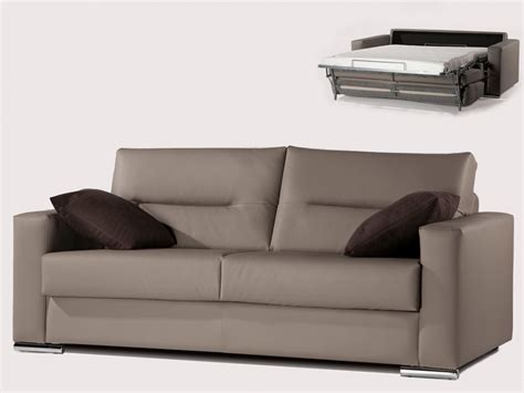 canap 233 3 places convertible express en simili taupe quentin