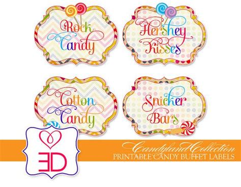 printable candy buffet labels template candy buffet