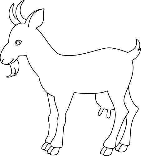 outline drawing   goat animals