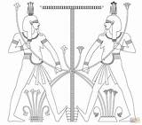 Egyptian Coloring Egypt Pages Sphinx God Ancient Gods Sarcophagus Drawing Printable Colouring Isis Pyramid Cool Tomb Goddess Draw Getdrawings Hapy sketch template