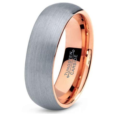 tungsten wedding band ring mm  men women comfort fit