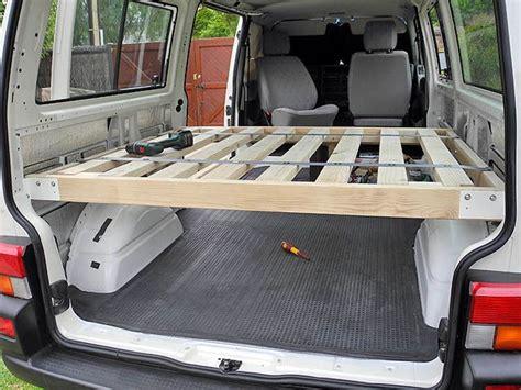 Bed Frame For Permanent Use  Van Bed Design Ideas