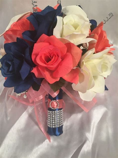 Details About Marine Navy Blue Coral Calla Lily Bridal