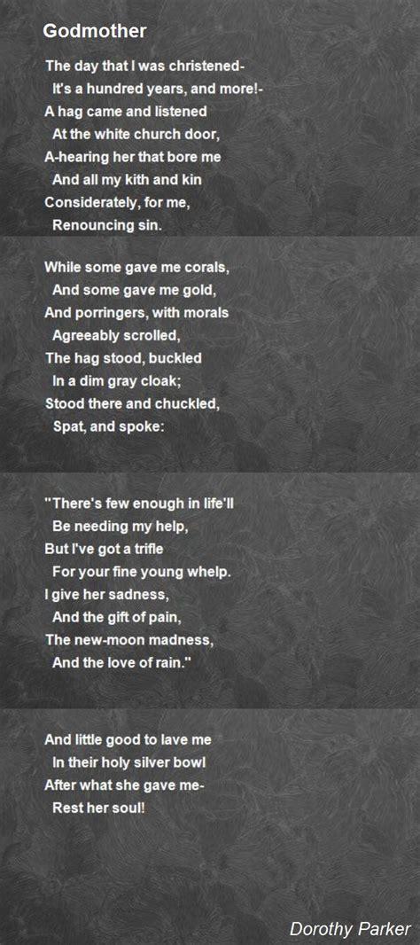godmother poem  dorothy parker poem hunter