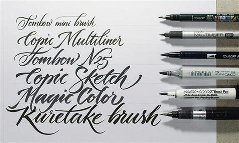 brush pen lettering buying guide of calligraphy writing lettering pens