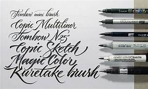 buying guide of calligraphy writing hand lettering pens With best brush pens for hand lettering