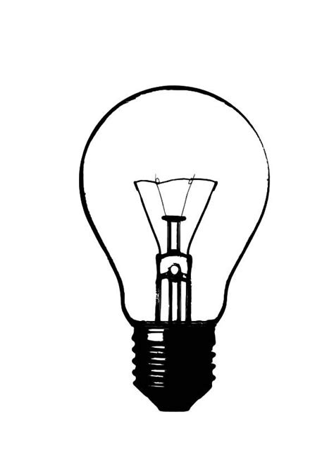 draw light bulb coloring pages object repeats