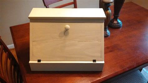 reclaimed wood bread box pine storage furniture