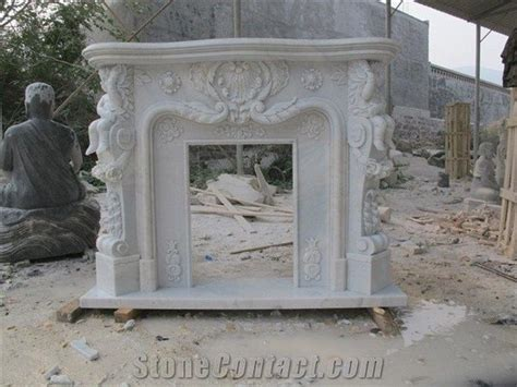 white marble fireplace mantel flower white marble carved flower decoration