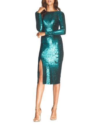 Dress the Population Natalie Sequin Sheath Dress Women ...