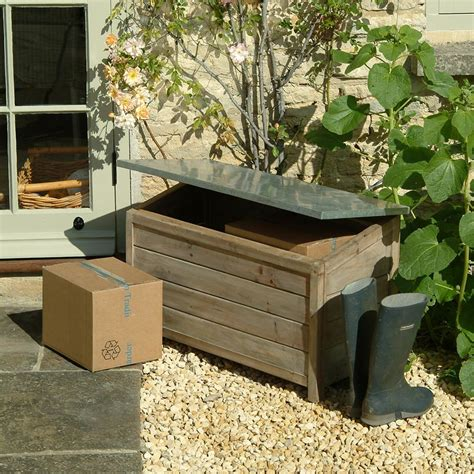 buy garden trading outdoor storage box amara