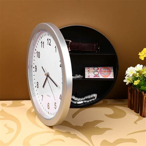creative wall clock safe money jewellery container