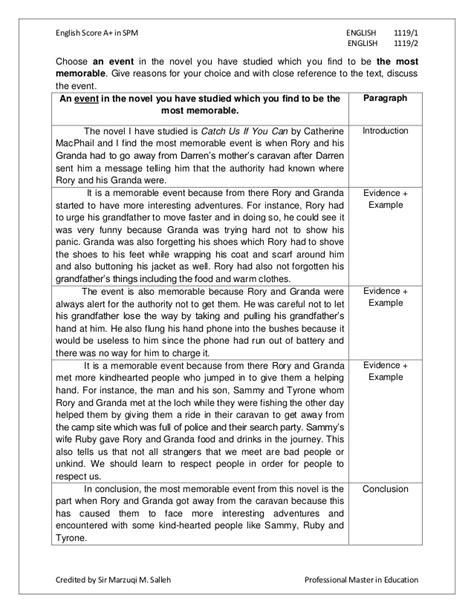 english essay spm  words