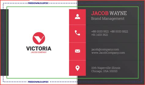 stylish corporate business card freedownloadpsdcom