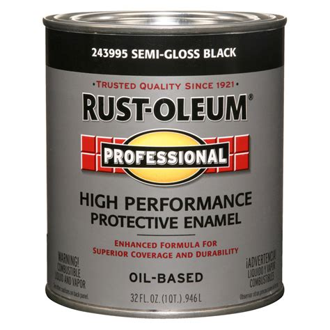 shop rust oleum professional black semi gloss semi gloss