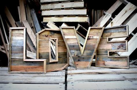 reclaimed wood marquee letters   recyclart