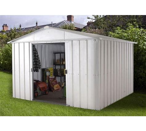 Argos 6 X 10 Shed by Buy Yardmaster Apex Metal Garden Shed 10 X 8ft At Argos