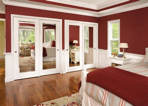 bedroom closet door transparent glass sliding doors with white frame placed on
