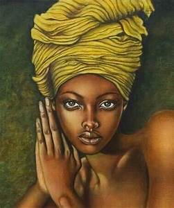 African Woman Painting   Exotic Style: African Sunsets ...