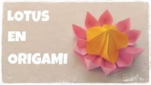 Faire Des Origami : origami facile faire une fleur de lotus en origami youtube ~ Nature-et-papiers.com Idées de Décoration