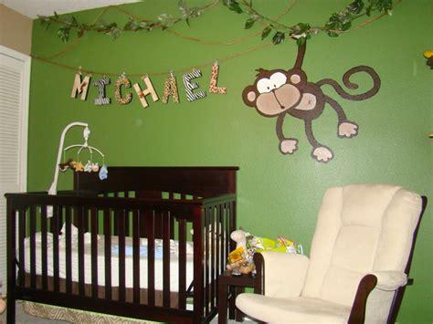 chambre de bébé jungle monkey themed nurseries webby