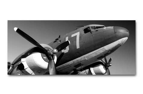 tableau panoramique avion army 90x30 cm tableaux atelier