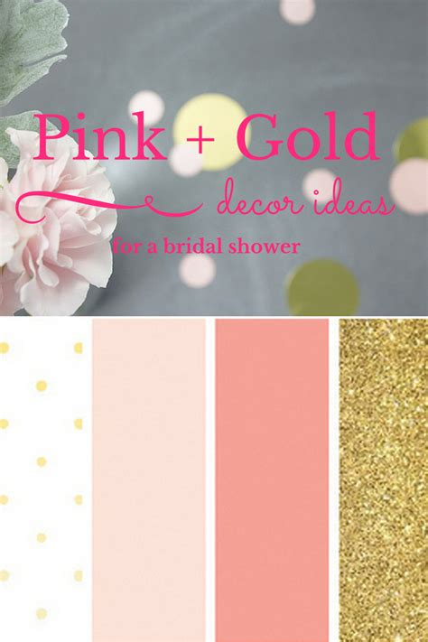For A Bridal Shower by Decor Ideas For A Pink Gold Bridal Shower Trueblu