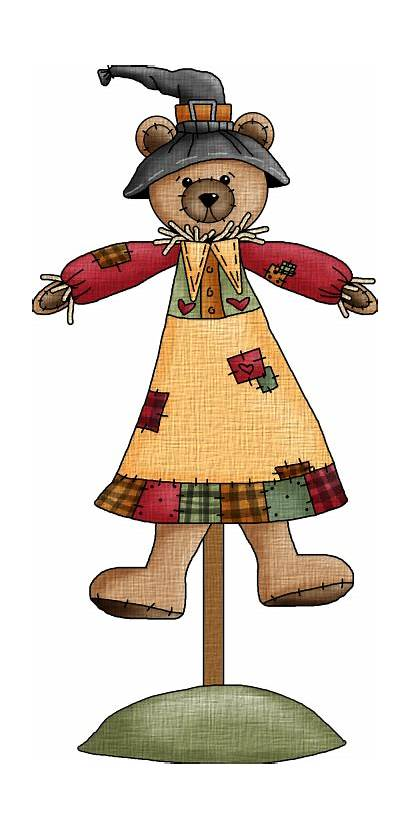 Clip Fall Clipart Thanksgiving Teddy Autumn Country