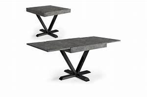 Table Basse Effet Beton : table basse design r tractable effet b ton gris well table console pas cher ~ Teatrodelosmanantiales.com Idées de Décoration
