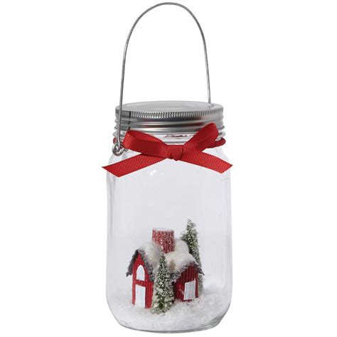 martha stewart living 3 in w mason jar scene christmas