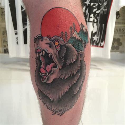 artist woodfarm tattoo subject bear style neo trad neo