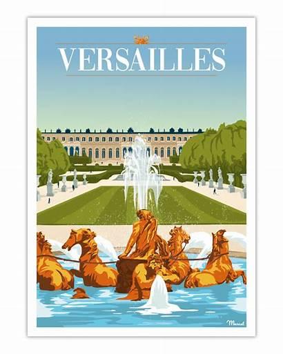 Versailles Poster Affiche Marcel Travel Travelposters