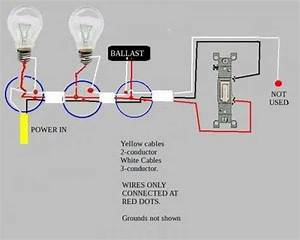 Troubleshooting Problem Wiring Power-- U0026gt Two Fluorescent Ballasts-- U0026gt Switch