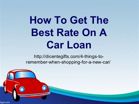 How To Get The Best Rate On A Car Loan