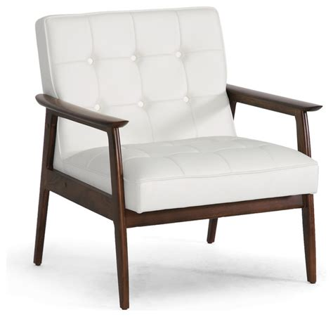 stratham white midcentury modern club chair modern
