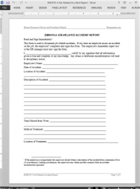 job related accident report template emh
