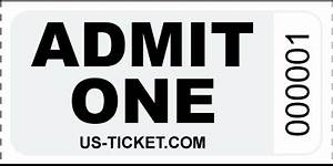 Pink Raffle Tickets Premium Admit One Roll Ticket Us Ticket Com